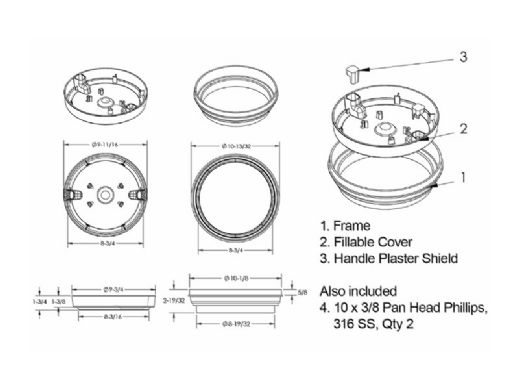 AquaStar FillStar Pool Water Leveler Bucket with Fill Lid | White | AFBFL101