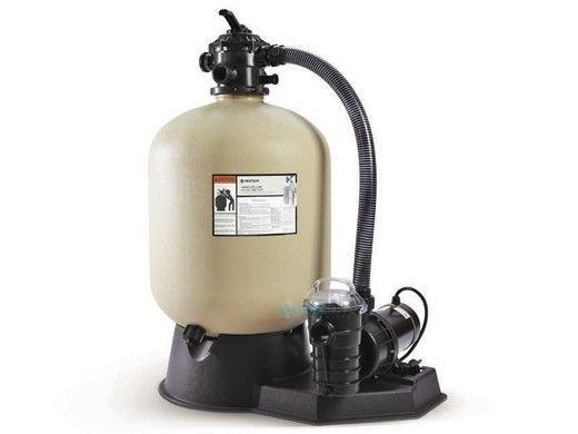 "Pentair Sand Dollar SD60 Above Ground Pool Sand Filter System | 22"" Filter 1HP Pump | 3' Twist Lock Cord | 6' Hose Kit | EC-PNSD0060OE1160"