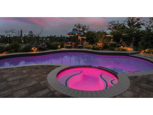 Halco Lighting ProLED Nicheless RGBW Color LED Pool and Spa Light Fixture | 12V 20W 50' Cord | FLCN-12-20-50