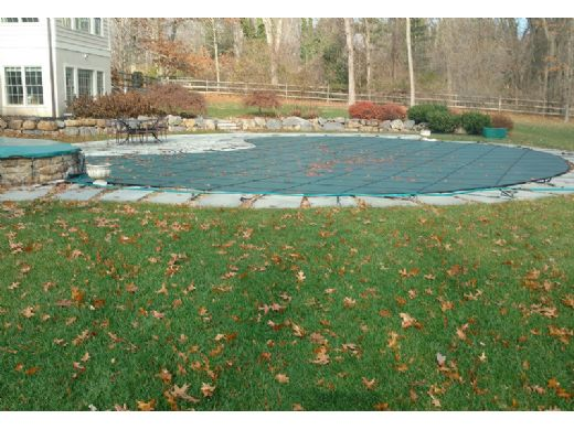 GLI 12-Year Secur-A-Pool Mesh Safety Cover | Rectangle 12' x 24' Green | 201224RESAPGRN