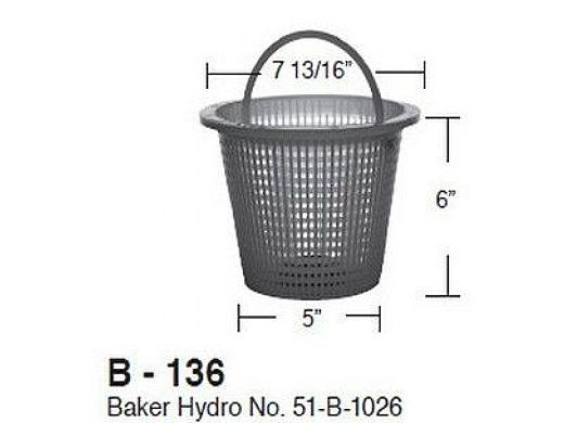 Aladdin Basket for Baker Hydro No. 51-B-1026   B-136