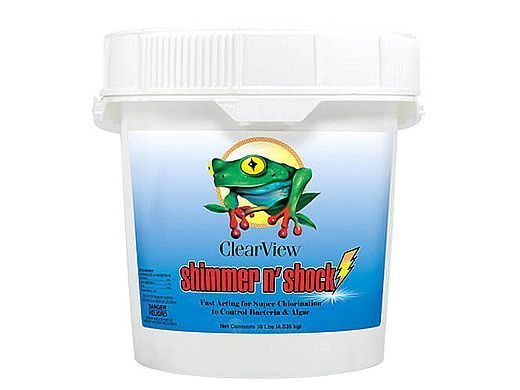 ClearView Shimmer-N Shock Granular Chlorine DiChlor | 10 LB | CVDB010