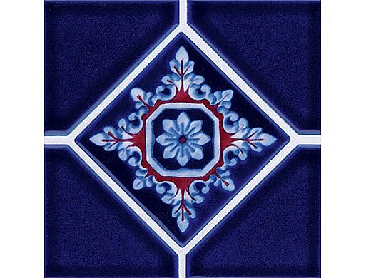 National Pool Tile Discovery Series   Cobalt Blue/Rust   DS500