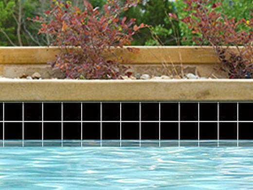 National Pool Tile Discovery Field 3x3 Series   Black   DSF39N