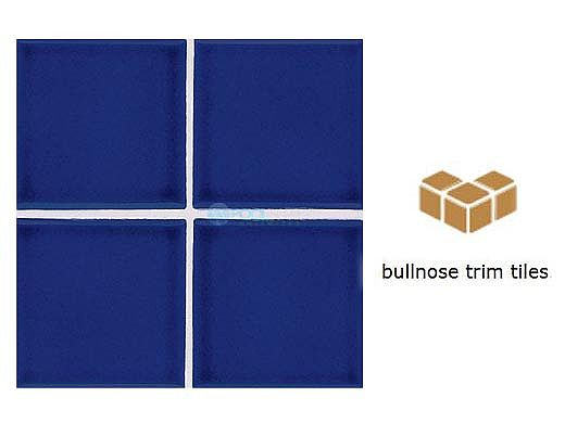 National Pool Tile Discovery Field 3x3 Trim   Cobalt Blue   DSF50N SBN