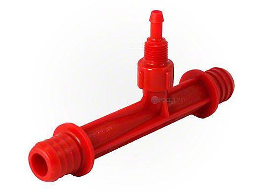 "DEL #684K Injector Only   Hose Barbs 3/4""   Kynar Red   7-0356"