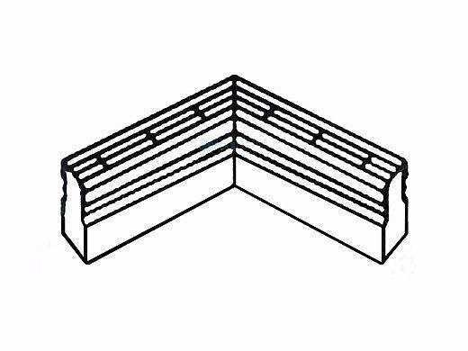 Deck O Drain 90 Degree Bend White 2812111