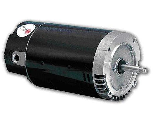 Replacement Threaded Shaft Pool Motor .75HP | 115/208/230V 56 Round Frame | Full-Rated Energy Efficient B638 | EB638