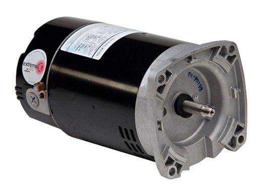 Replacement Square Flange Pool & Spa Motor   56Y Frame Standard Efficiency   115/230V 0.75HP Full Rated 1HP Up Rated   R0479311   EB847   EB853   B2847   B2853   ASB847
