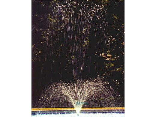 """Fountains For Pools TF Series Shower of Diamonds Telescoping Fountain   Plaster Construction 54"""" Water Depth   TF-54"""