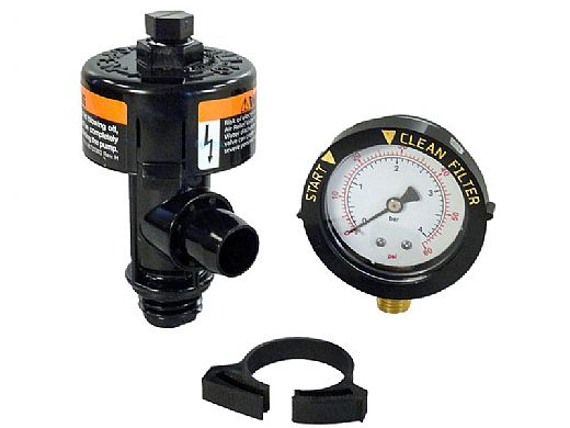 Pentair High Flow Air Relief Assembly | Twist Type | Includes Pressure Gauge | 98209800