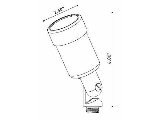 FX Luminaire | LustroRame® Copper 10W With Glare Shield | LR-10-GS-CU | 221510