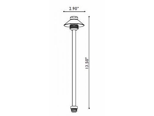 FX Luminaire | DiamantePiccolo Copper 10 Watt Pathlight | DP-10-12R-CU | 223320