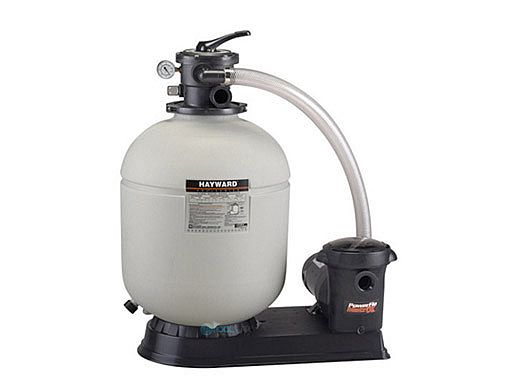 Hayward Pro Series Sand Filter System with Hoses   1.75 Sq Ft 1HP Power-Flo Matix Pump   W3S180T92S