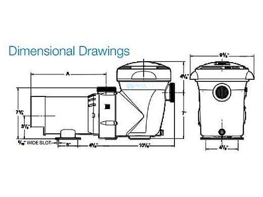 Hayward PowerFlo Matrix Above Ground Single Speed Pool Pump | 1HP 115V | W3SP1592