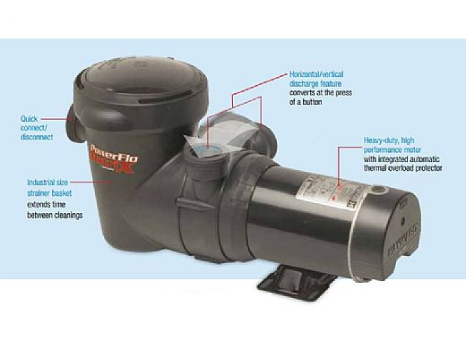 Hayward Power-Flo Matrix Above Ground Pool Pump 2 Speed | 1.5HP w/Switch | W3SP15932S