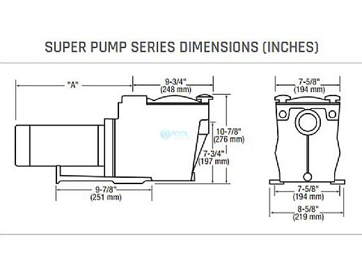Hayward Super Pump | 1HP Uprated 115V/230V | SP2607X10
