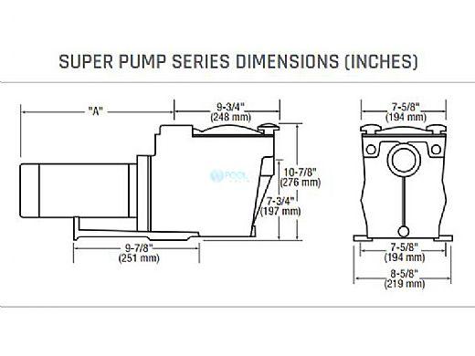 Hayward Super Pump | 1.5HP Uprated 115V 230V | SP2610X15