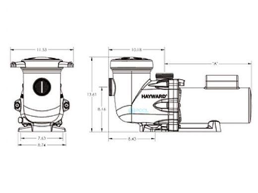 Hayward TriStar High Performance Energy Efficient Pump .75HP Full Rated | 115V 230V | W3SP3207EE