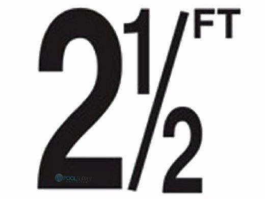 "Depth Marker 5"" Frost proof tile | 2 1/2 FT Non-Skid | DM52-2025"