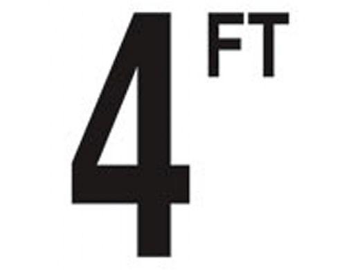 "Depth Marker 5"" Frost proof tile   4 FT Non-Skid   DM52-2040"