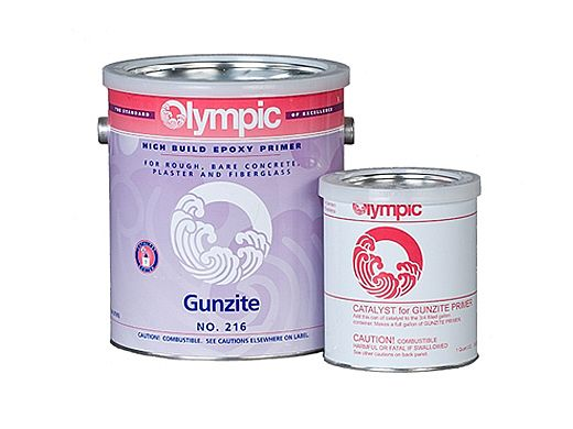 Olympic Gunzite Epoxy Pool Paint Primer Kit | Primer + Catalyst 1-Gallon | 216 G