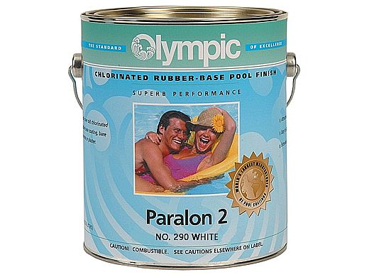 Olympic Paralon 2 Chlorinated Rubber Pool Paint | 1-Gallon | White | 290 G