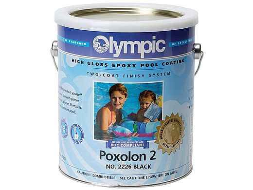 Black Pool Paint Gallon Epoxy