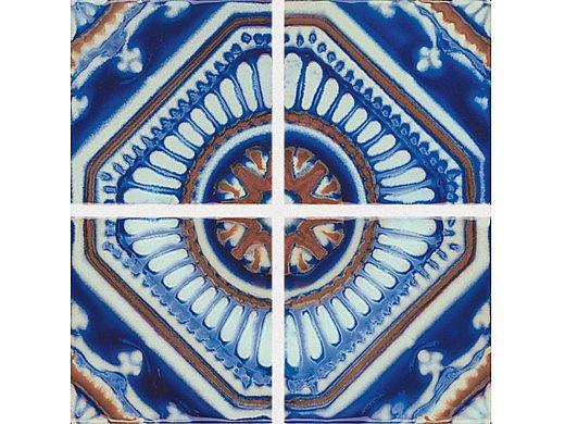 National Pool Tile Iberia Series   Royal Blue Print   Cadiz