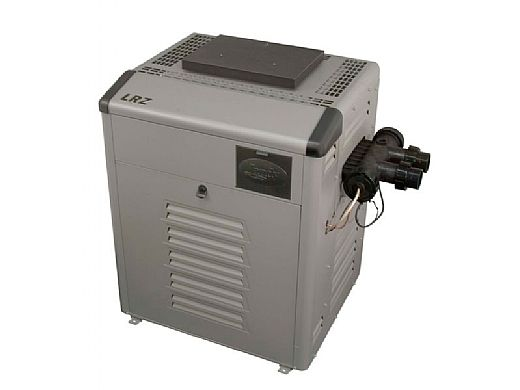 Jandy Legacy LRZ Pool Heater   250,000 BTU Natural Gas   Electronic Ignition   Digital Controls   Polymer Heads   LRZ250EN