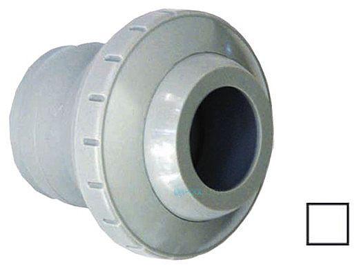 "AquaStar Three Piece Directional Eyeball Fitting | 1-1/2"" Knock-In | with .5"" Orifice | White | 4301"
