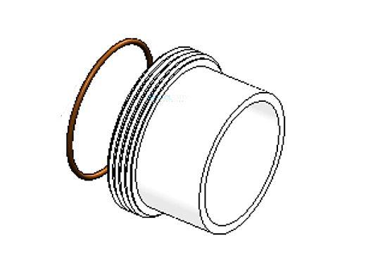 "AutoPilot Union Half 2"" Slip X Male Thread Union with O-Ring   312-D"