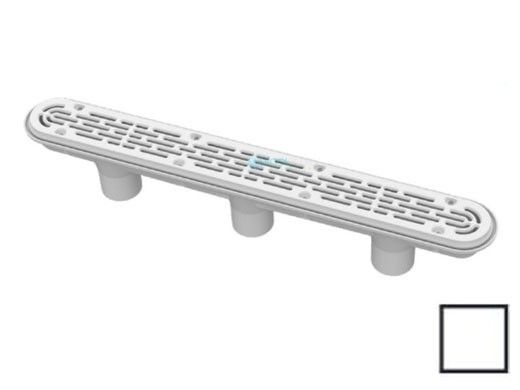 """AquaStar 32"""" Channel Drain with 3 Port Sump/Flat Grate Anti-entrapment Suction Outlet Cover (VGB Series) 