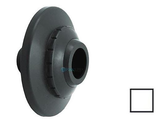 "AquaStar Three-Piece Directional Eyeball Fittings | 1"" Knock-In | with Flange - 1"" Orifice | White | 5101"