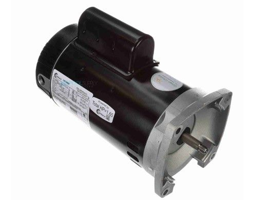 Replacement Square Flange Pool & Spa Motor | 1HP Energy Efficient 2-Speed | 56 Frame Full-Rated | 230V | B2982