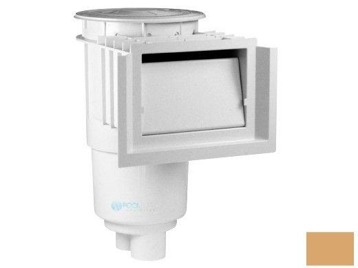 Aquastar Flow Star Standard Skimmer with Water Stop Face, Float Assembly, Basket, Lid and Adjustable Collar | Tan | SKR108