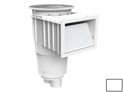 AquaStar Flow Star Standard Skimmer with Flush Face, Float Assembly, Basket, Lid and Adjustable Collar   White   SKR201