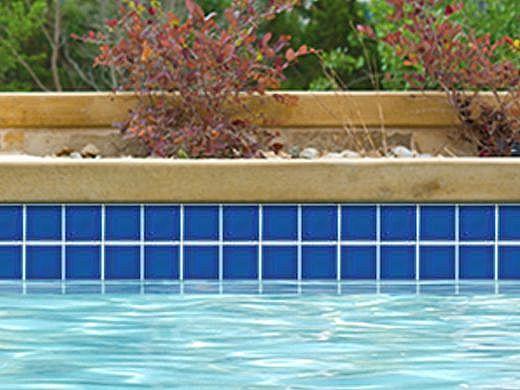 National Pool Tile Marine Field 3x3 Series Pool Tile | Diamond Blue | M332