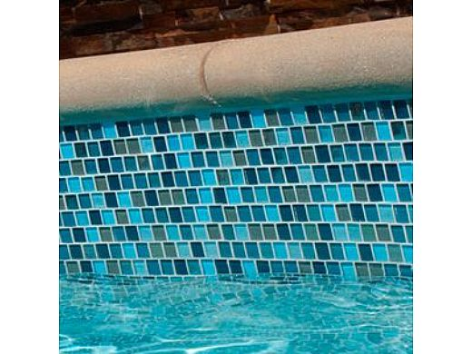National Pool Tile Jules 1x1 Glass Tile Rustic Blue