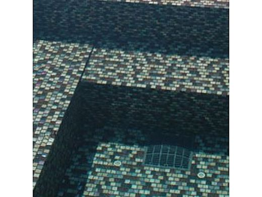 National Pool Tile Jules 1x1 Glass Tile   Rustic Mocha Blend   9912-5AT