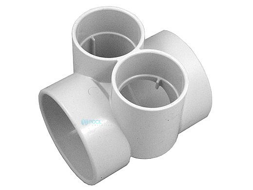 """AquaStar Bushing with Two 2.5"""" Slip to 4"""" Transitional T with Reducer Bushing to 3"""" 