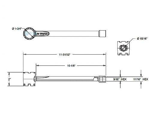 AquaStar Socket and Jet Removal Tool for Most Major Brand Return Fittings | Black | VSJW102