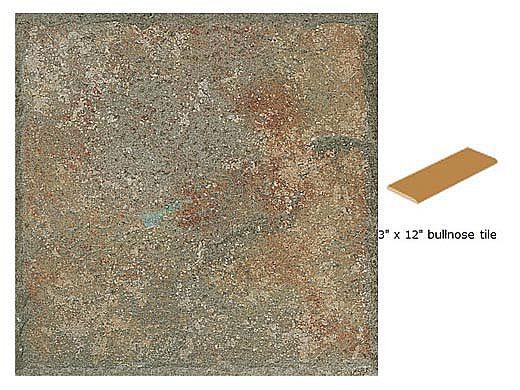 National Pool Tile Tuscany 3x12 Single Bullnose Pool Tile | Pietra Verde | HVER SBN
