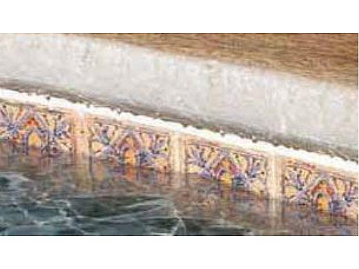 National Pool Tile Raku 6x6 Series   Ocean Blue   RUOCEAN