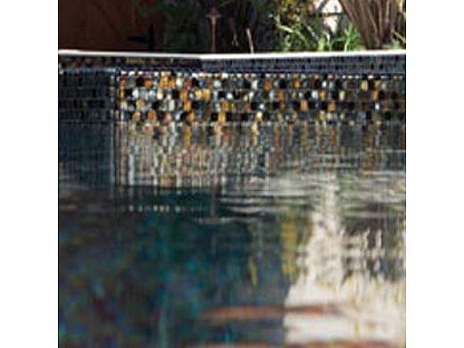 National Pool Tile Oceanscapes 1x1 Glass TIle | Blackies | OCN-BLACKIES