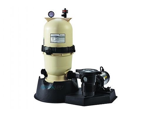 Pentair Clean & Clear Aboveground Cartridge Filter System 175 SQ FT 1.5HP Pump 3'CD W/Hose   PNCC0175OF1160