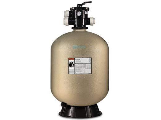 """Pentair Sand Dollar SD80 26"""" Top Mount Sand Filter with Clamp Style 1.5"""" Multiport Backwash Valve 