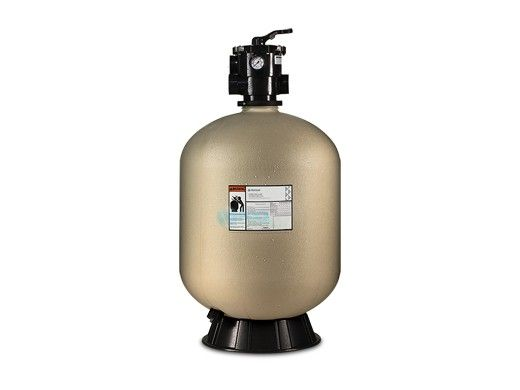 "Pentair Sand Dollar SD80 26"" Top Mount Sand Filter with Clamp Style 1.5"" Multiport Backwash Valve 
