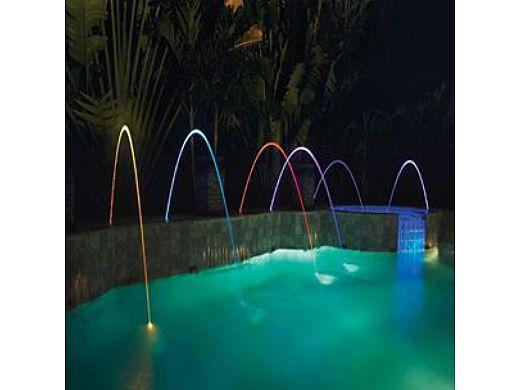 Pentair MagicStream Laminar Color LED Light   Black Deck Lid   580001B