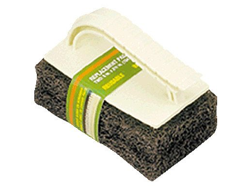 A&B Brush Mr Scrubber Jr with 2 Pads   Brown   8520/111BR